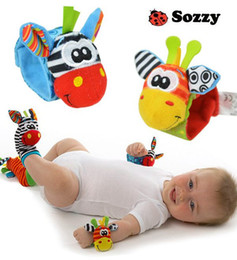 Wholesale 2015 new arrival sozzy Wrist rattle foot finder Baby toy Infant foot Sock wrist rattles foot socks lovely baby baby gift