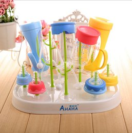 Wholesale Baby Bottle Drying Rack Antibiotic Drainer Dryer Rack Safe Shelf Feeding Holder Stand
