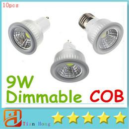 10x High Quality COB GU10 E27 E26 MR16 9W Dimmable Led Spot Bulbs Light Cool Warm White CRI>85 High Power Led Lights 110-240V 12V