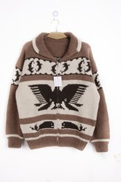 Wholesale Canada s foreign trade featured vintage vintage snow hawk handle heavy hand of pure mohair sweater thickening