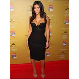 Wholesale-Free Shipping 2016 Womens New Black Leatherette Bandage Dress Kim Kardashian
