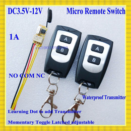 Small Remote Relay Switch 3.6V 4.8V 5V 6V 7.4V 9V 12V Wide Voltage Mini Receiver Transmitter Normally Open Close Wireless Switch