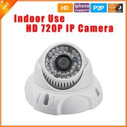 Promotion dôme intérieur caméras ip Opération facile Russe Portugais Espagnol HD 1280 * 720P 1.0MP caméra de sécurité IP caméra dôme mégapixel ONVIF 2,0 P2P intérieure