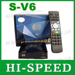 Wholesale 50PCS Original S v6 Mini Digital Satellite Receiver Openbox v6s with AV HDMI output xUSB WEB TV USB Wifi Biss Key CCCAMD