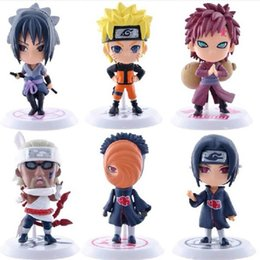 DHL 6 design Naruto Q Edition Naruto Anime Action Figures Collection toys 2016 new Children Naruto Cartoon PVC Figures Model toys B
