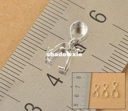 Wholesale X Size L X14MM Sterling Silver Findings Bail Connector Bale Pinch Clasp Silver Pendant Fittings Bail