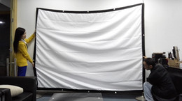 Wholesale Factory sales inch Projector HD Screen Portable Folded Front projection screen fabric with eyelets without Frame