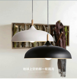 Free shipping New vintage Loft American country iron industrial creative simple wooden pendant lights for coffee bar restarurant kitchen