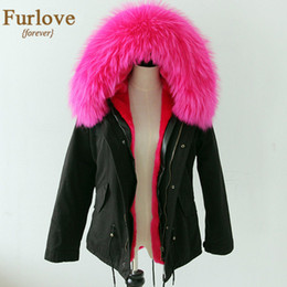Wholesale-2015 Army Green Jacket Women Real Raccoon Fur Hooded Parka With Fur Lining For Winter DHL EMS Fedex Delivery