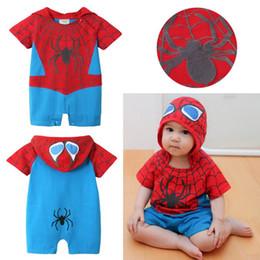 Скидка красный восхождение Бесплатная доставка оптовых новейший хлопка Кристмас младенца ползать одежды Rompers младенца, ребенок восхождение одежды Ролевая игра красный Человек-паук