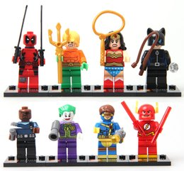 Wholesale Marvel Super Heroes SY178 Minifigures Cyclops Catwoman WonderWoman Joker Flash Aquaman Deadpool Fury Building Block Toys original box
