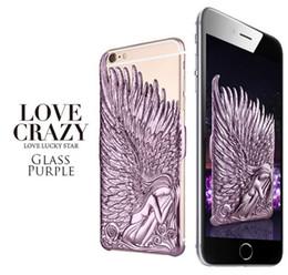 Anges ailes à vendre-Luxe, chanceux, étoile, ange, aile, galvanisé, cas, couverture, peau, coquille, pour, iPhone, 5, iPhone, 6, plus, mode, cas