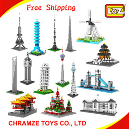 Wholesale LOZ Diamond blocks World famous architecture Construction set DIY toys for children amp adults learning amp education free