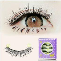 Handmade fake eyelashes 252# natural short thick lashes cotton stem 30Pairs LOT false lashes extension naked makeup eye lashes extension