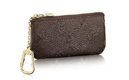 Wholesale Hotsale Top quality real Leather women Key Pouch Coin purse hand wallet small bag