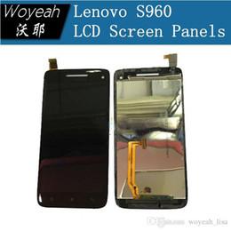 Acheter en ligne Quad lcd-Lenovo S960 Ecran LCD avec écran tactile Panneau de verre pour VIBE X MTK6589T Quad core Android Smartphone Livraison gratuite en stock