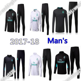 2017 -18 new Real Madrid soccer Tracksuit RONALDO ASENSIO Track suits jacket Real Madrid chandal training suits sports wear
