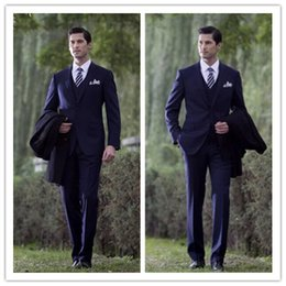 Wholesale New high grade suit men the groom s wedding dress is suitable for men s clothing of cultivate one s morality vitas blue B cultivate one s m
