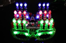 christmas toy LED glasses CANDLE carnival festival holiday supplies party decoration luminous christmas