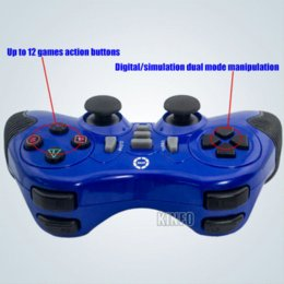ew 3-In-1 Wireless 2.4Ghz Joystick Controller Controle Double Shock Controlador Gamepad For PC Playstation PS3 PS2 0.63-BCG11B shock col...