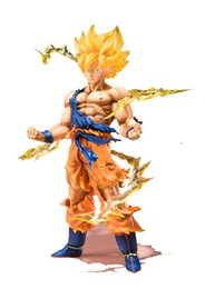 Wholesale Anime Dragon Ball Z Super Saiyan Son Goku PVC Action Figure Collectible Toys CM Kids toys