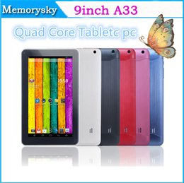 Wholesale Best Selling quot A33 Quad Core Android Kitkat Tablet PC Multi Color DDR3 GB GB A23 WIFI Dual Camera OTG G SENSOR Bluetooth A23
