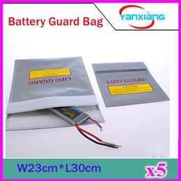 Sacs ignifuges à vendre-5pcs nouveau sac de protection de la batterie sac de la garde Lipo batterie de sécurité sac de charge de la garde à l'épreuve de la preuve incendie, livraison gratuite ZY-BAJ-01