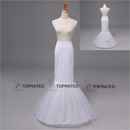 12009 Free Size Mermaid Wedding Dresses Bridal Dresses Petticoat Underskirt Crinoline Without Target Drop Shipping One Hoop Two Layer