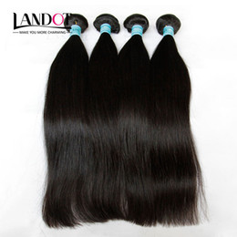 4Pcs Lot 8-30Inch Indian Virgin Hair Straight Grade 7A Unprocessed Indian Remy Human Hair Weave Bundles Natural Color Extensions Double Weft