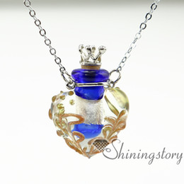 heart diffuser locket aromatherapy necklaces essential jewelry glass vial pendant necklace wholesale diffuser necklace essential oil locket