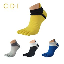 Wholesale-2015 Summer New Mens Toe Socks Cotton Five Fingers Socks Casual Sport Socks with Toes Ankle Socks 6 colors