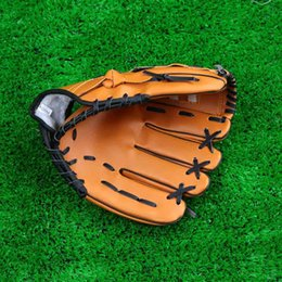 Wholesale Baseball Training Practice Gloves Left Hand PVC Artificial Leather quot quot quot Unisex Pitcher Softball Baseball Glove