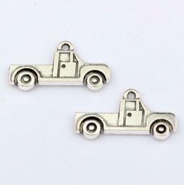Wholesale Hot Sale pc Antique Silver Truck charm Pendant x26 mm DIY Jewelry