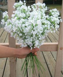 Wholesale 100pcs cm Gypsophila Baby s Breath Artificial Fake Silk Flowers Plant Home Wedding Decoration
