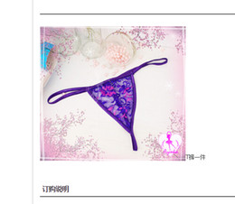 Wholesale Sexiest Womens Panties - wholesale pretty Sexy Lingerie G-string Womens Underwear Stretch Lace Panties only pink and black free shipping LR569