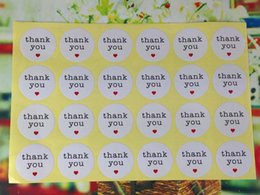Wholesale 2400PCS cm Round Thank you Love Sticker labels white Paper Stickers Labels DIY hand made for gift box cake