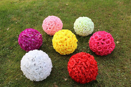 """12 """" 30cm Artificial Simulation Encryption Silk Rose Flower Kissing Ball for the New Year Festive Wedding Decorations Bouquet"""