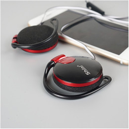 Wholesale Mini Portable In Ear Earphone Ear hook Headsets MM Wired Foam Earphones with earhook for mobile phones