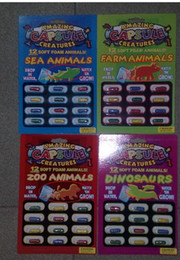 Wholesale 12pcs set Novelty Gadget Multicolor Amazing Capsule Creatures Set Fake Animal Toy Trick Joke Tool