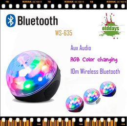 Wholesale Fast delivery Olddays WS RGB color portable wireless bluetooth speaker loudspeaker accept TF usb