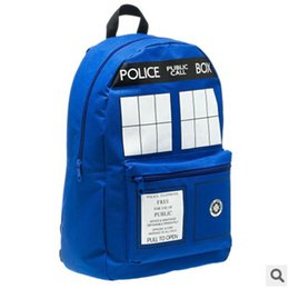Wholesale 10pcs LJJC2057 Hot Sale Police Tardis Backpack Doctor Who Backpack Dr Who Tardis bags Tardis Knapsacks Unisex Shoulder Bag School Bag