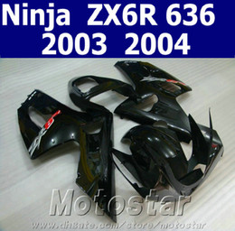 Wholesale Motorcycle parts for kawasaki fairing ZX6R Ninja fairings kit ZX R all glossy black aftermarket SD55