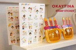 Wholesale South Korea okey Tina stamp theme stickers stickers Cute cartoon stickers