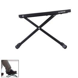 Wholesale Andoer FT E25 Foldable Adjustable Guitar Foot Rest Stool Levels of Heightness Anti Slip High Quality I1213