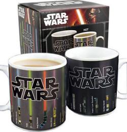 Wholesale Mug Star Wars Coffee Mugs Change Color Heat Lightsaber Heat Reveal Color Change Sensitive Funny Mugs Custom Coffee Mugs