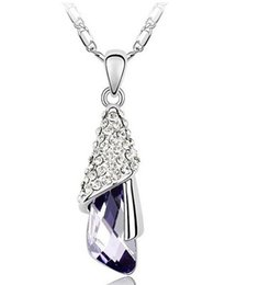Wholesale Austrian crystal birthday gifts full diamond necklace female romantic admiration goddess new fashion