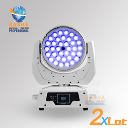 Wholesale 2X Freeshipping New W in1 RGBAW Zooml LED Moving Head Wash RGBAW color with Zoom Function With Touch Screen Moving Head Wash Light