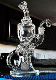 Wholesale FTK best bong torus and Klein Recycle glass bongs Fab egg Holes mm joint High quality Thick Glass hitman glass bubbler