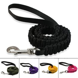 2.5*105CM Colorful Braided Nylon Dog Leash Lead Comfortable for walking dogs for Small Breeds