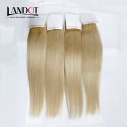 Bleach Blonde Indian Virgin Hair Straight Color #613 Grade 8A Human Hair Weave Bundles Remy Hair Extensions 3 4Pcs Lot 12-30Inch Double Weft